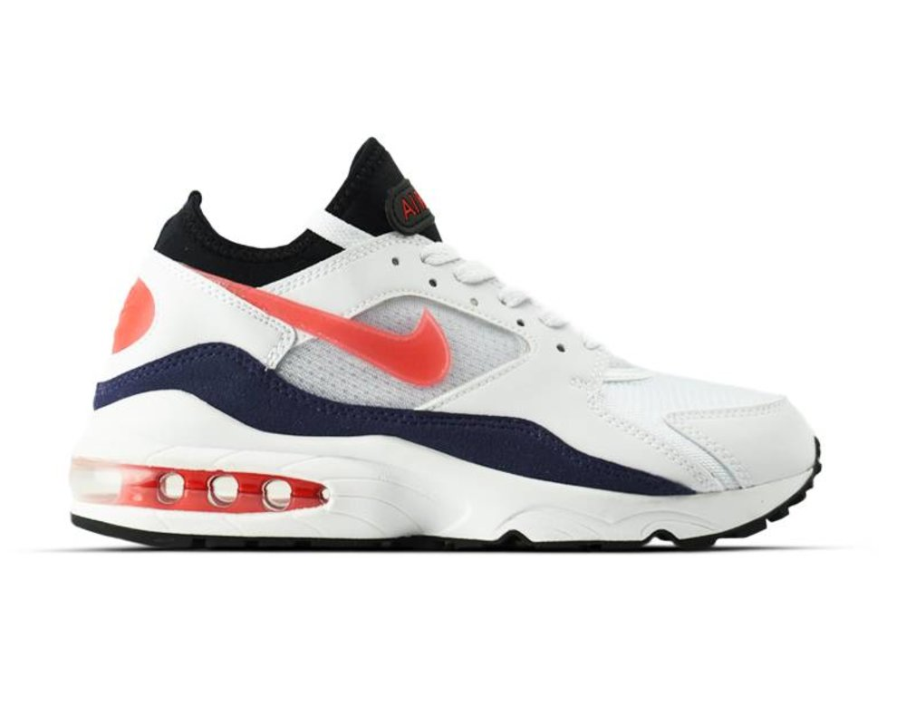 Nike Air Max 93 White Habanero Red 306551 102 | Bruut Online ...