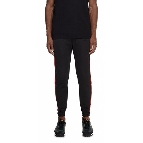 Black Red Tape Logo Track Pants  18F1PA01 02