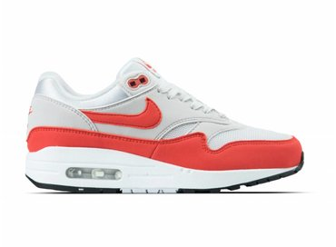 Nike WMNS Air Max 1 Vast Grey Habanero Red 319986 035