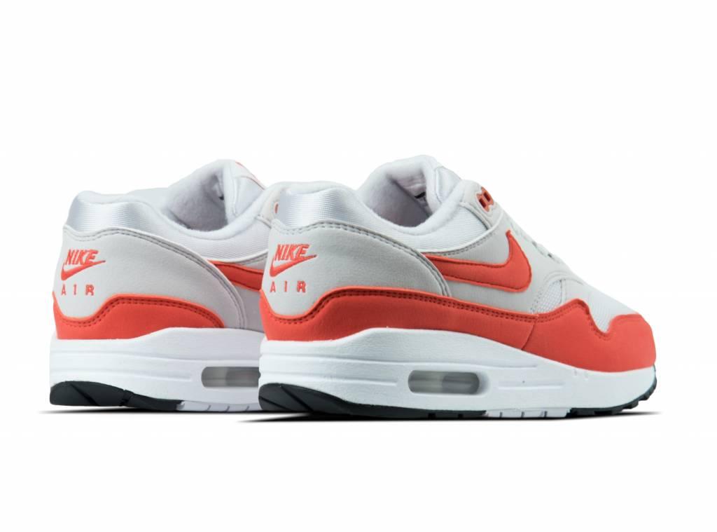 Nike Gray Air Max 1 Wmns Vast Grey Habanero Red