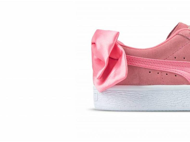 Suede Bow Wn's Shell Pink Shell Pink 367317 01