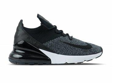Nike Air Max 270 Flyknit Black Black White AO1023 001
