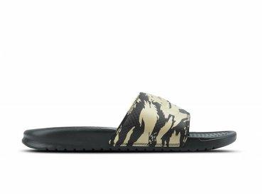 Nike Benassi JDI Khaki Khaki Velvet Brown Black AQ5060 200