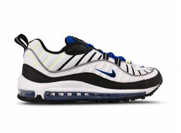 Nike Air Max 98 White Black Racer Blue Volt 640744 103