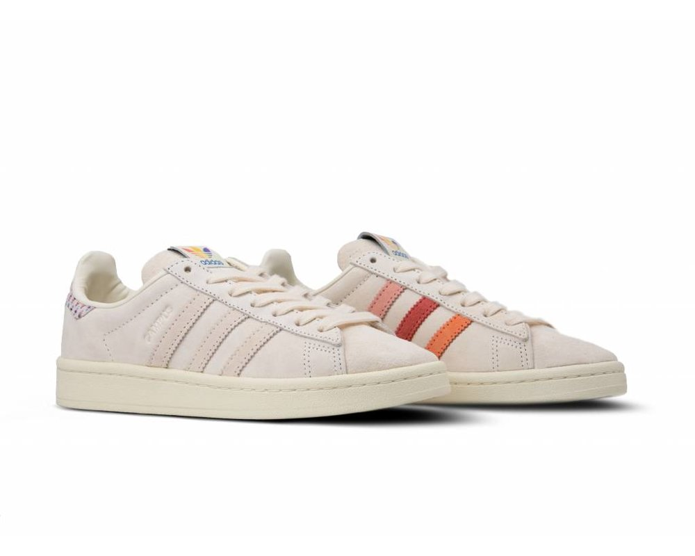 Adidas Campus Pride Chalk White Trace Pink Trace Scarlet B42000