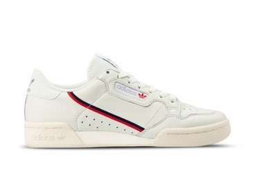 Adidas Continental 80 White Tint Off White Scarlet B41680