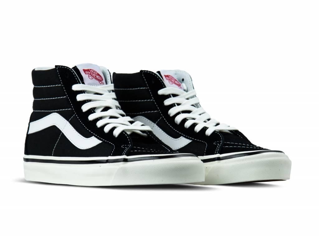 Vans Sk8 Hi Black & White Platform Shoes | Zumiez