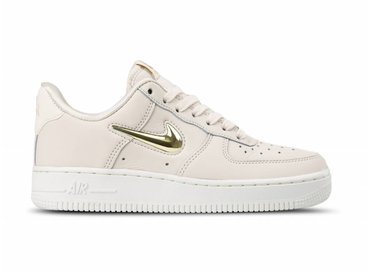 Nike WMNS Air Force 1 '07 PRM LX Phantom Metallic Gold Star AO3814 001
