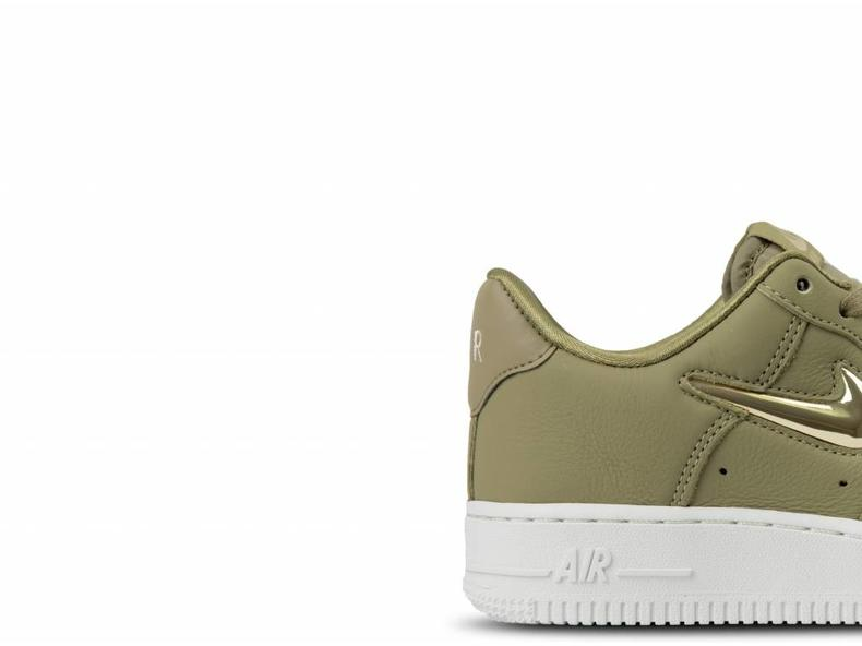 WMNS Air Force 1 '07 PRM LX Neutral Olive Metallic Gold Star AO3814 200