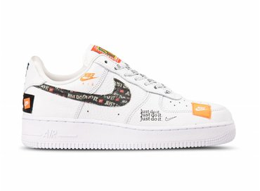 Nike Air Force 1 '07 PRM JDI White White Black Total Orange AR7719 100