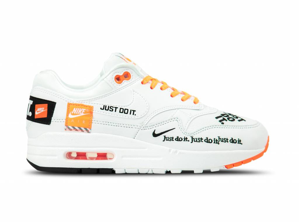 Nike WMNS Air Max 1 Lux White Black Total Orange 917691 100