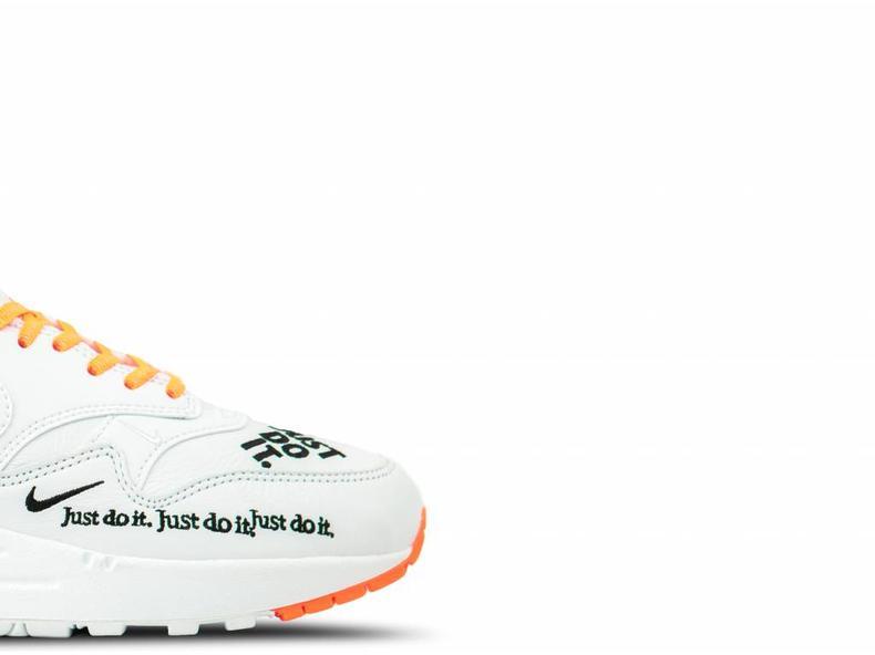 WMNS Air Max 1 Lux White Black Total Orange 917691 100