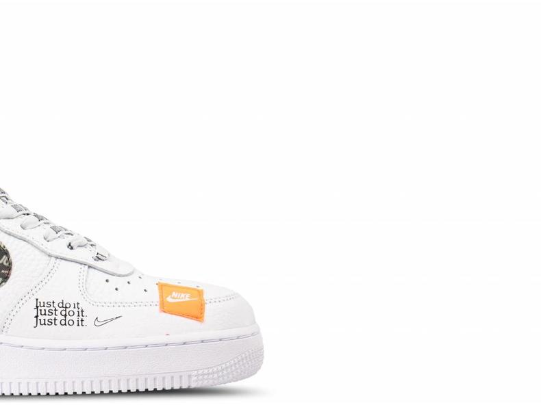 Air Force 1 '07 PRM JDI White White Black Total Orange AR7719 100