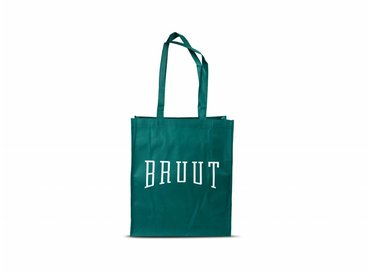 Bruut Exclusive Totebag Dark Green/White