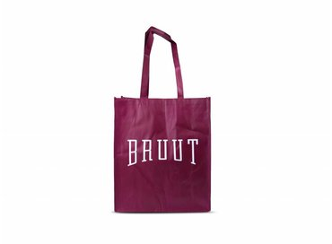 Bruut Exclusive Totebag Burgundy/White