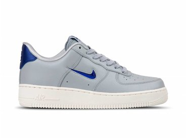 Nike Air Force 1 '07 LV8 LTHR Wolf Grey Deep Royal Blue AJ9507 002