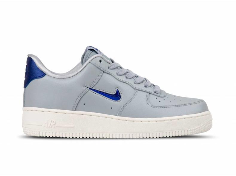 huge discount 62788 b7b2e Nike Air Force 1 '07 LV8 LTHR Wolf Grey Deep Royal Blue AJ9507 002 ...