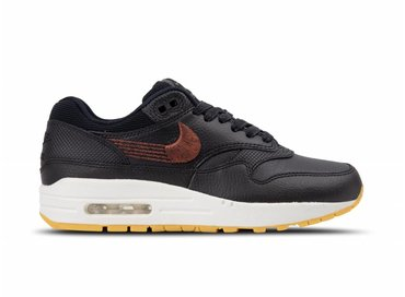 Nike WMNS Nike Air Max 1 PRM Black Black Gum Yellow 454746 020