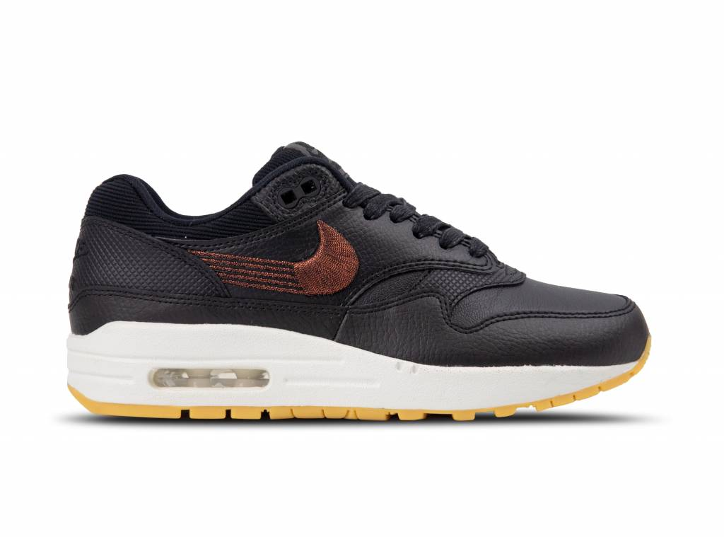 2ed2d7952d6 WMNS Nike Air Max 1 PRM Black Black Gum Yellow 454746 020 will be added to  your shopping card
