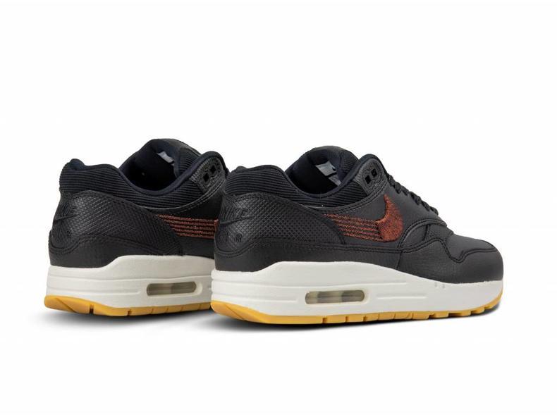4dd0405b88d Nike WMNS Nike Air Max 1 PRM Black Black Gum Yellow 454746 020 ...