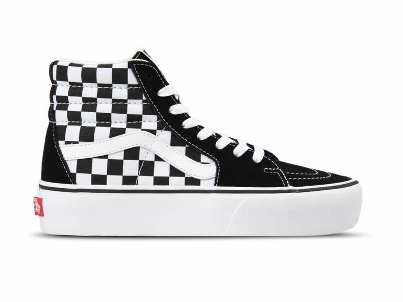vans sk8 hi checkerboard dames