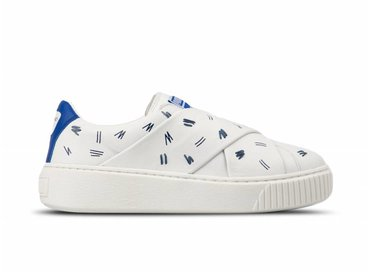 Puma Platform Slip On SM Puma White Nebulas Blue 365900 01