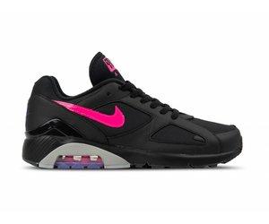 sports shoes 2e9c3 e6ef5 Nike Air Max 180 Black Pink Blast Wolf Grey AQ9974 001   Bruut Online shop  - Bruut Online Shop   Sneakerstore