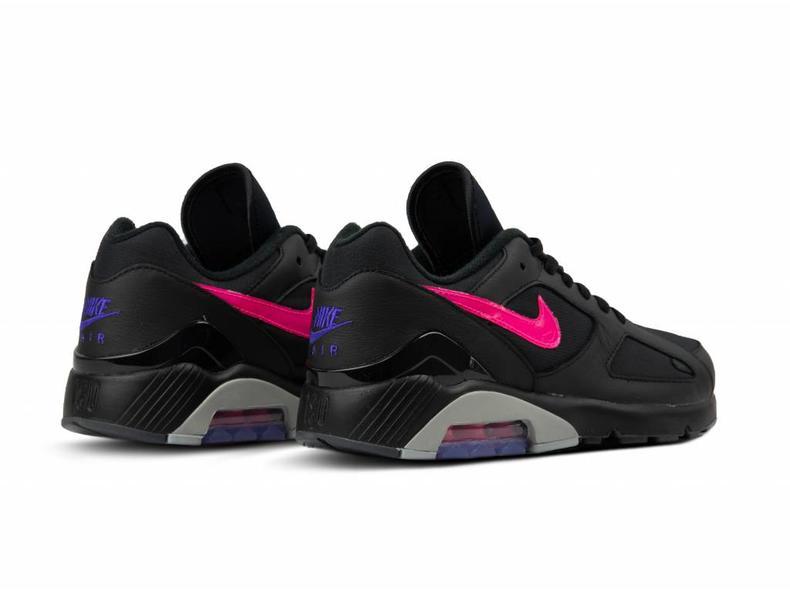 size 40 18601 a7652 Air Max 180 Black Pink Blast Wolf Grey AQ9974 001