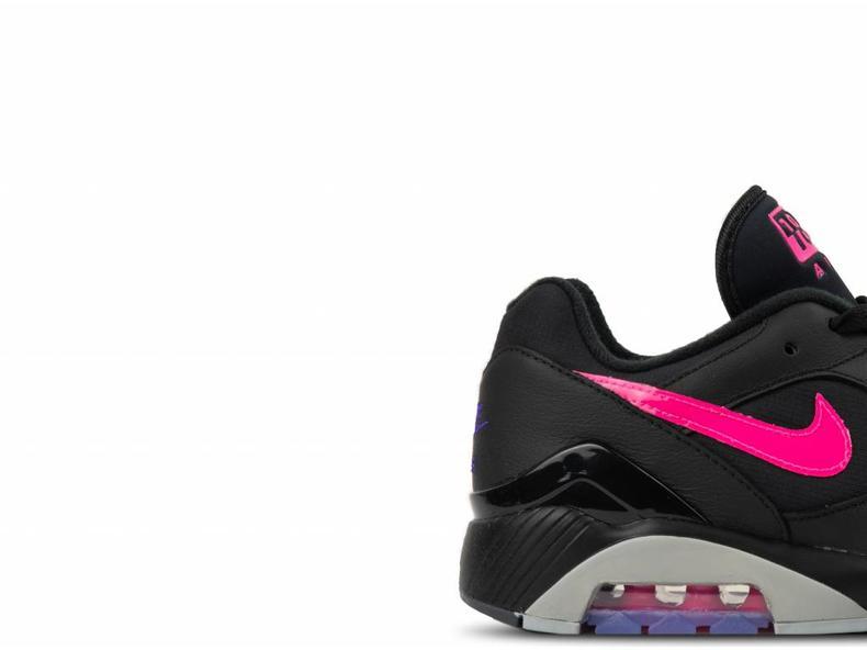 5507c16a2 Nike Air Max 180 Black Pink Blast Wolf Grey AQ9974 001