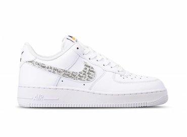 Nike Air Force 1 '07 LV8 JDI LNTC White Black Total Orange BQ5361 100