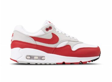 Nike Air Max 90 1 White University Red Grey Black AQ1273 100