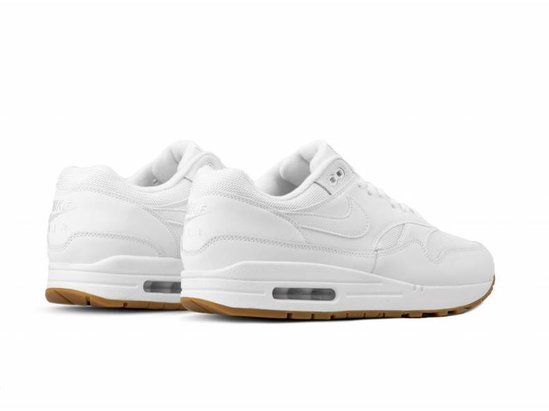 Nike Air Max 1 White White Gum Med Brown AH8145 109  5fb936935
