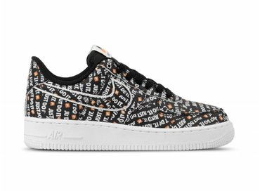 Nike Air Force 1 07 LV8 JDI Black Black White Total Orange AO6296 001