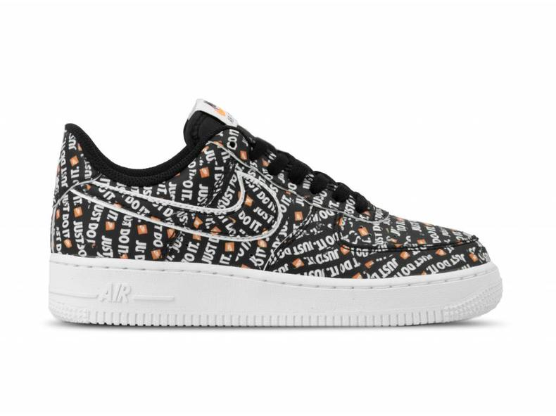 meilleur service a53ab cb332 Air Force 1 07 LV8 JDI Black Black White Total Orange AO6296 001