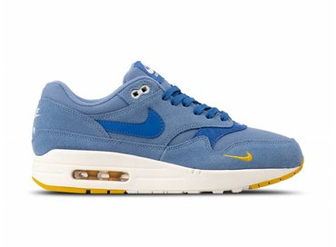 Nike Air Max 1 Premium Work Blue Mountain Blue Yellow Ochre 875844 404