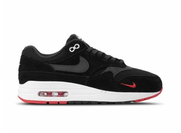 newest 31553 0331a Nike Air Max 1 Premium Black Oil Grey University Red Sail 875844 007
