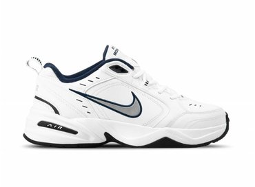 Nike Air Monarch IV White Metallic Silver Blanc Argent 415445 102