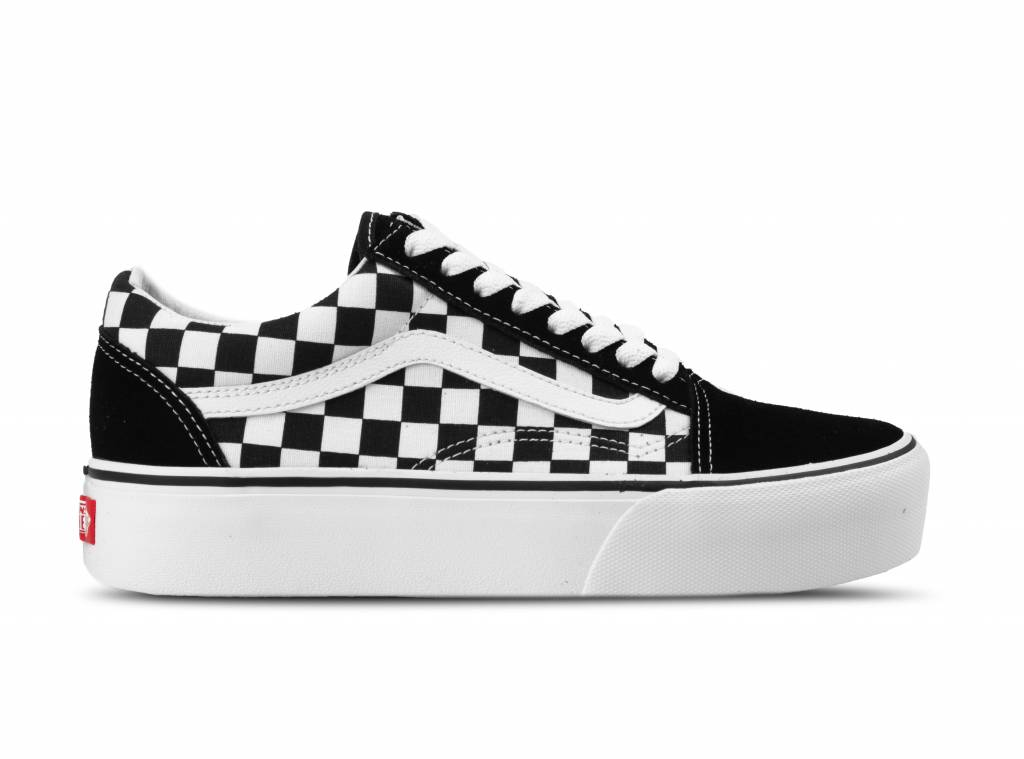 61c46d6a368 Vans Old Skool Platform Checkerboard Black True white VN0A3B3UHRK | Bruut  Online shop - Bruut Online Shop & Sneakerstore