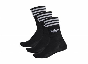 Adidas Solid Crew Sock Black white S21490
