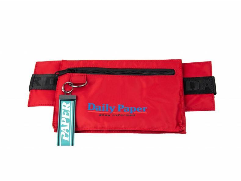3c74d55e2f7 Daily Paper Corset Waistbag Nylon Dark Red 18F2OAC02