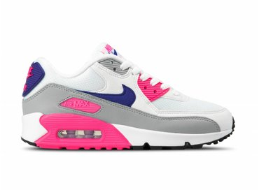 Nike WMNS Air Max 90 White Court Purple Wolf Grey 325213 136