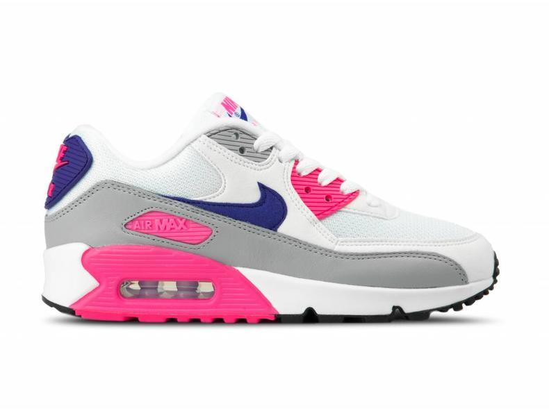 Nike WMNS Air Max 90 White Court Purple Wolf Grey 325213 136  ee904c15db
