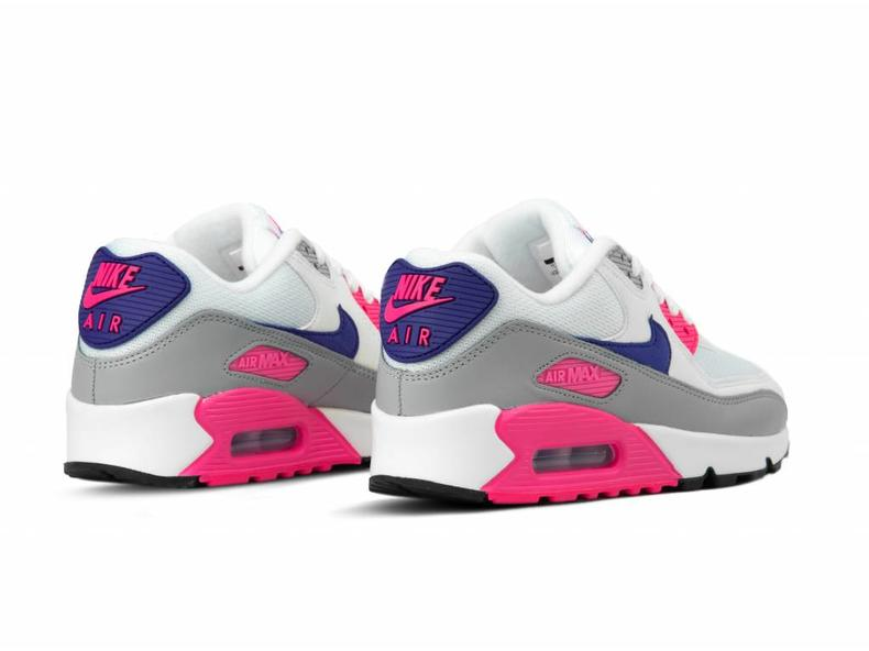 huge selection of 83722 b57a3 Nike WMNS Air Max 90 White Court Purple Wolf Grey 325213 136 | Bruut ...