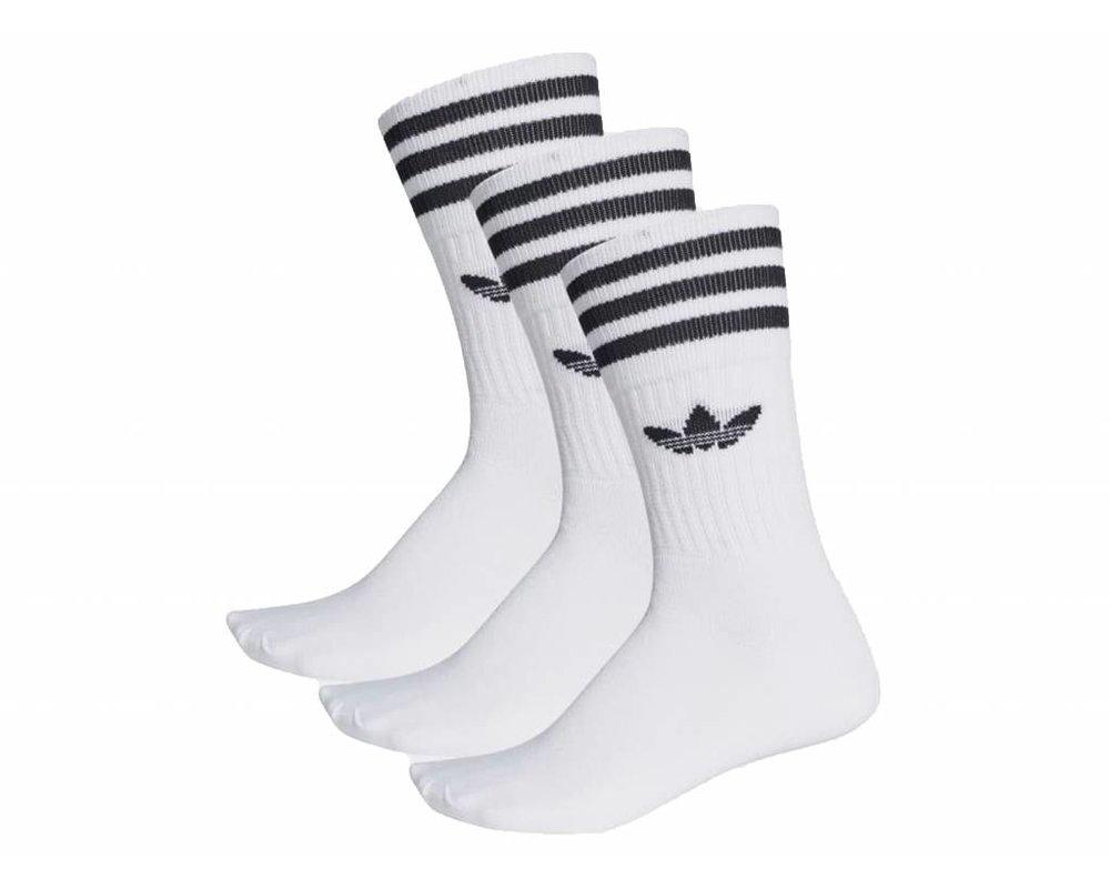 Adidas Solid Crew Sock White Black S21489