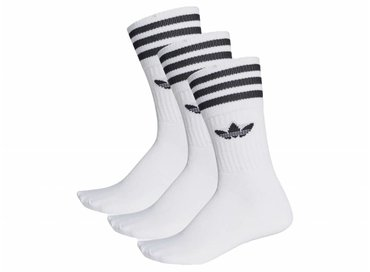 Adidas Solid Crew Sock White Black S21489