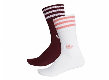 Adidas Solid Crew 2PP Maroon White White DH3361