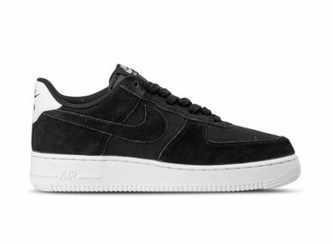Nike Air Force 1 '07 Suede Black Black Sail AO3835 001