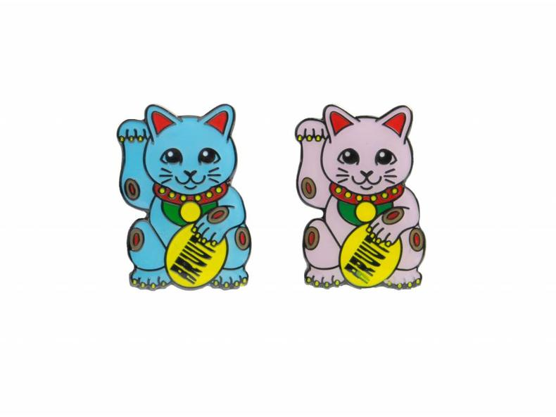 Lucky Cats Couple Pins