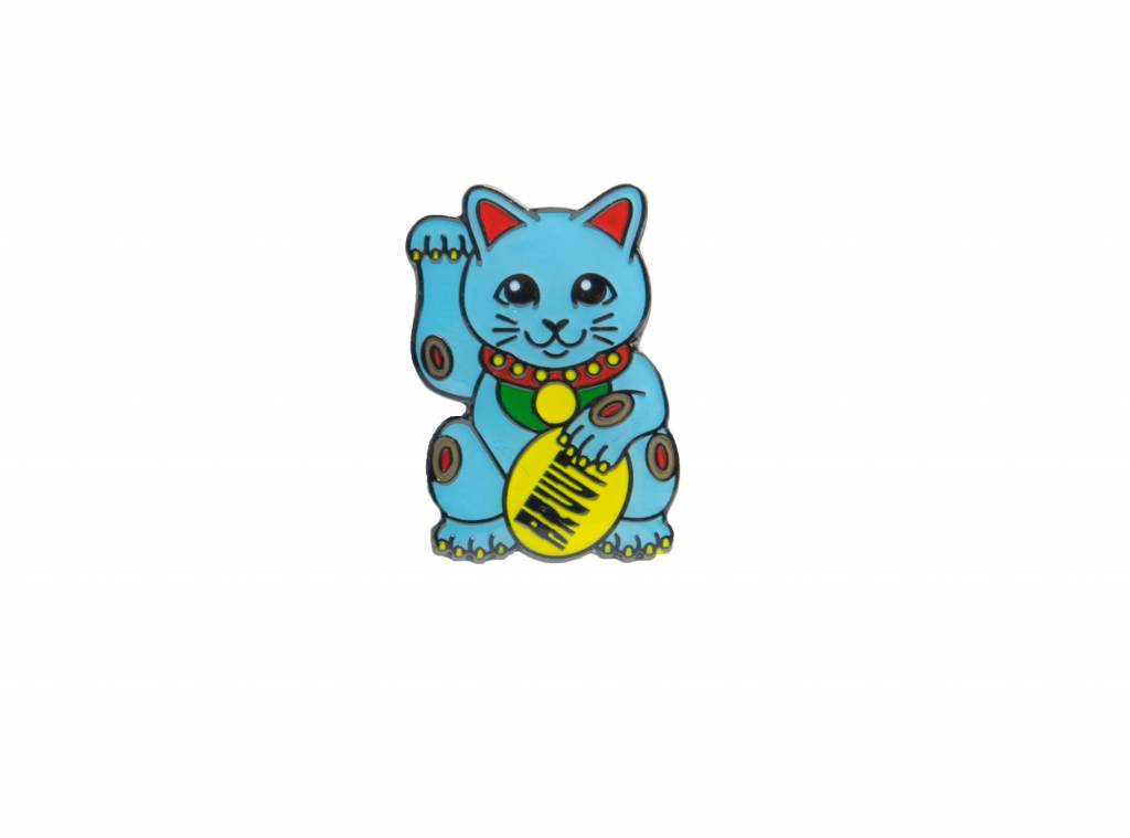 Lucky Cats Blue Pin