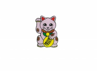 Bruut Lucky Cats Pink Pin